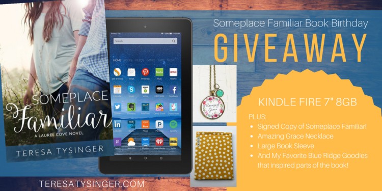 Someplace Familiar Book Birthday Giveaway from Author Teresa Tysinger