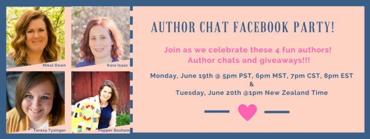 Author Chat Facebook Party | Monday, June 19