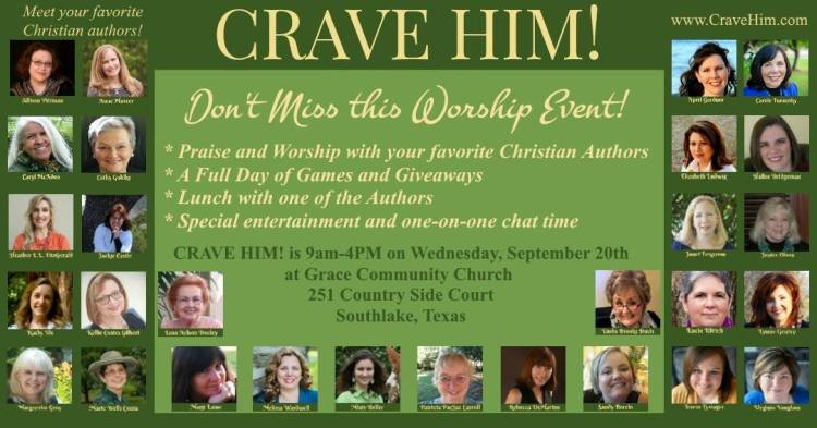 You're invited to CRAVE HIM! Readers & Authors Event: September 20, 2017 in Southlake, Texas