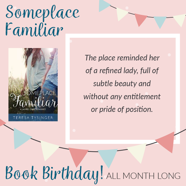 Livy, the heroine from the southern romance novel Someplace Familiar, details her first glimpse of the quaint Laurel Cove Inn.