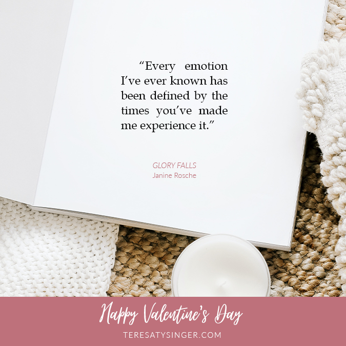 Glory Falls Quote for Valentine's Day